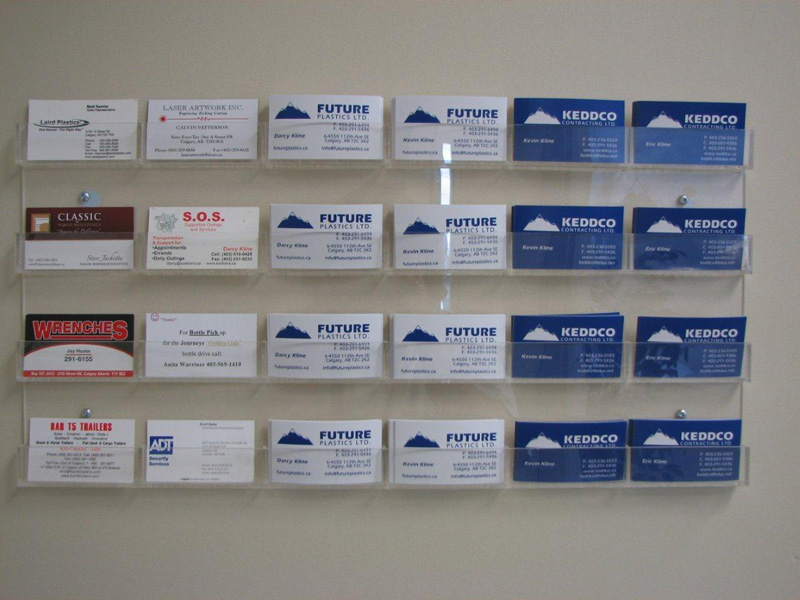 Acrylic Business Card Wall Rack